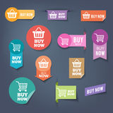 Buy Now Stickers Royalty Free Stock Photo