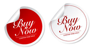 Buy now stickers Stock Images