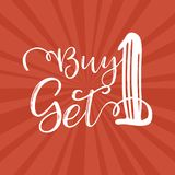 Buy one get 1 Royalty Free Stock Photos