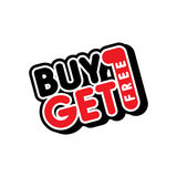Buy one get free sale promo. Theme  illustration Stock Photography