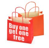 Buy one get one free Stock Photography