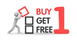 Buy one get one free Royalty Free Stock Image