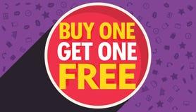 Buy one get one free discount voucher vector design template. Buy one get one free discount voucher design template vector stock illustration