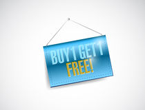 Buy one and get one free hanging banner. Illustration design over a white background Royalty Free Stock Photos