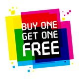 Buy One, Get One Free Poster. Or Banner Abstract Design, vector illustration Stock Photos