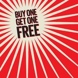 Buy One, Get One Free Poster. Or Banner Abstract Design, vector illustration Royalty Free Stock Photos