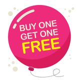 Buy One, Get One Free Poster. Or Banner Abstract Design, vector illustration Stock Images