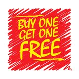Buy One, Get One Free Poster. Or Banner Abstract Design, vector illustration Stock Image