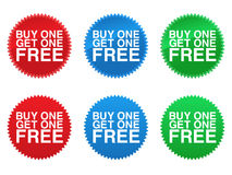 Free Buy One Get One Free Seals EPS Stock Photo - 16097220
