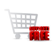 Buy one and get one free shopping cart. Illustration design Royalty Free Stock Image