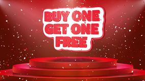 Buy 2 Get 1 Free Text On Black Background Stock Video