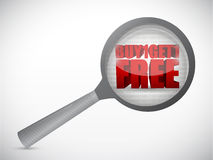 Buy one get one free under magnify search. Investigation illustration design over a white background Stock Photos