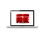Buy one and get one laptop illustration. Design over white Stock Photos