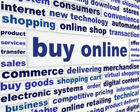 Buy online business poster Stock Image