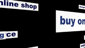 Buy online business words hd animation stock footage
