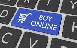 Buy Online button Royalty Free Stock Image