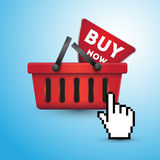 Buy online, buy now Stock Photography