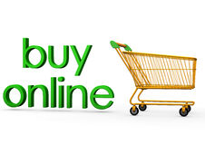Buy online icon. Illustration of buy online icon composed of green lower case text spelling ' buy Royalty Free Stock Image