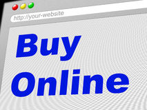 Buy Online Indicates World Wide Web And Retail Stock Image