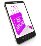 Buy Online Phone Shows Internet Availability for Buying and Sale Stock Photo