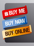 Buy online ribbons. Stock Photos