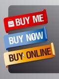 Buy online ribbons. Stock Photos