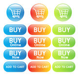 Buy online shopping cart Royalty Free Stock Images