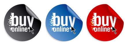 Buy online stickers Stock Images