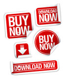 Buy online stickers. Stock Image