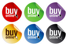 Buy online stickers Royalty Free Stock Images