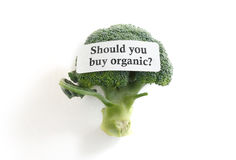 Buy organic label Stock Photo
