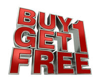Buy1 ottengono 1 LIBERO Fotografie Stock