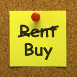 Buy Property Instead Of Renting Message Stock Photo