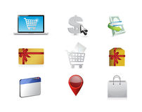 Buy. purchasing concept icon set illustration Royalty Free Stock Image