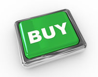 BUY push button. 3d chrome push button with text BUY stock illustration
