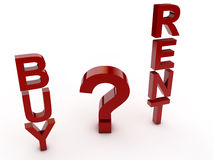 Buy or Rent. A difficult decision Stock Photo