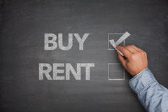 Buy or rent on Blackboard Royalty Free Stock Image