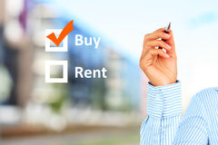 Buy or rent. Stock Images