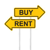 Buy or rent concept, 3d render Stock Photos