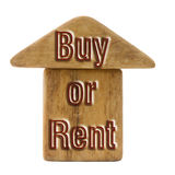 Buy or rent concept image Royalty Free Stock Photography