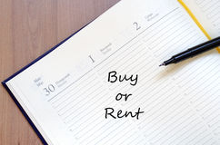 Buy or Rent Concept Royalty Free Stock Photo