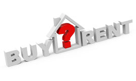 Buy or rent. 3d generated picture of a buy or rent concept Royalty Free Stock Photography