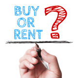 Buy or Rent Stock Image