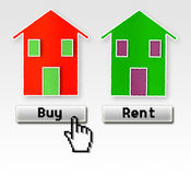 Buy or rent: I choose to buy! Stock Photo