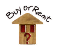 Buy or rent a new home? Stock Photos