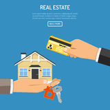 Buy rent real estate Stock Photography