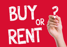 Buy or Rent written on wipe board Royalty Free Stock Photo