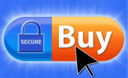 Buy secure online Royalty Free Stock Photos