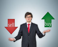 Buy and sell arrow Royalty Free Stock Photo
