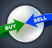 Buy Sell Arrows Shows Retail Purchase And Shop Stock Photo